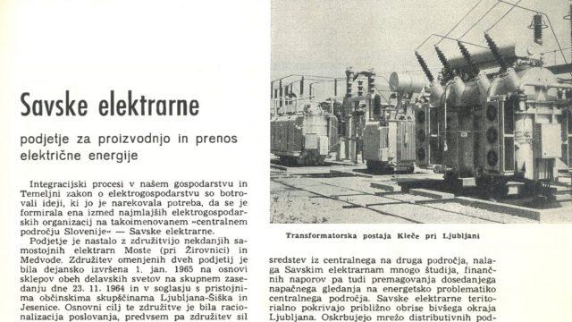 Kronika o HE na Savi 1966
