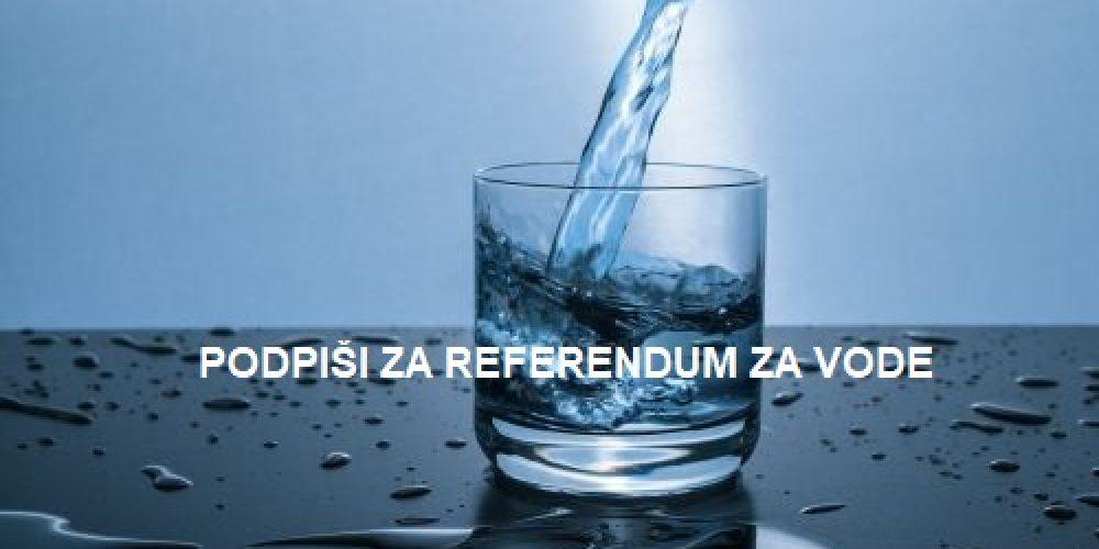 Vabljeni k oddaji podpisa za referendum o sporni noveli zakona o vodah